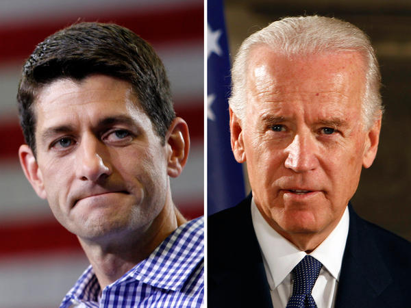 This composite image shows Republican vice presidential candidate Rep. Paul Ryan (left) and Vice President Biden. Both men are Catholic, but their worldviews are strikingly different.