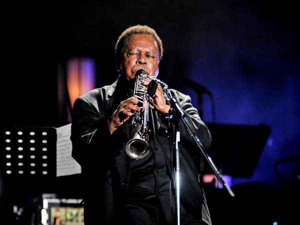 Wayne Shorter performs in 2014