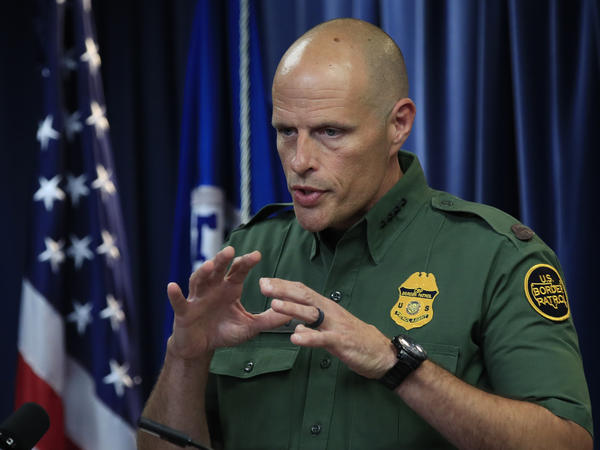 U.S. Customs and Border Protection Acting Deputy Commissioner Ronald Vitiello speaks to reporters about choosing four contractors to build the first prototypes of the border wall.
