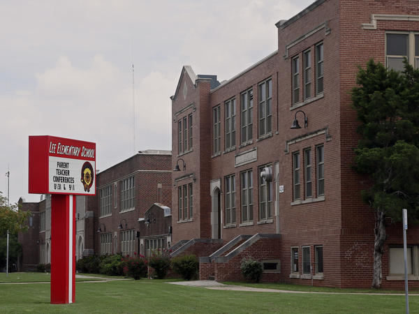 Lee Elementary in Oklahoma City where historians aren't sure if the school is named for Robert E. Lee, or Oscar Lee, a prominent Oklahoma businessman.