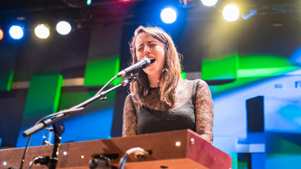 Gordi performs at World Cafe Live in Philadelphia for a WXPN Free At Noon concert.