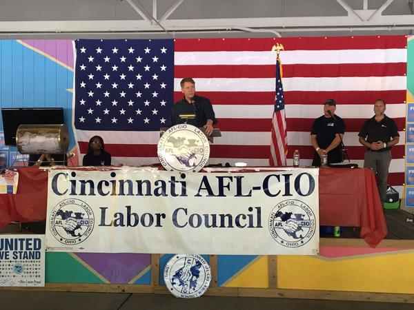 Richard Cordray appeared at a Labor Day picnic in Cincinnati, fueling speculation that he'll run for governor next year.