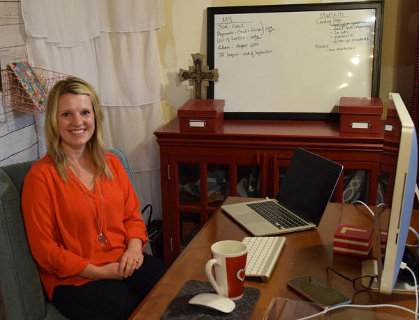 Liza Rodewald works from home and co-founded Hire Mad Skills, a job site that places military spouses in remote jobs.