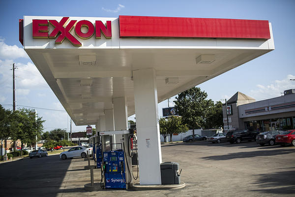 The Exxon gas station at S. Congress and Ben White Blvd. in Austin on July 25, 2017.