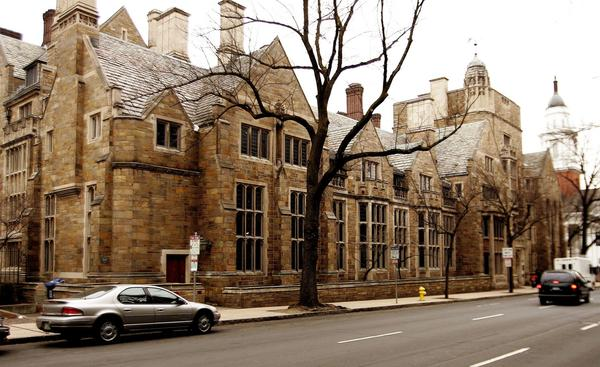 This Feb. 2, 2007 file photo shows Calhoun College, one of the 12 residential colleges housing Yale undergraduates at Yale University in New Haven, Conn. (Bob Child, File/AP)