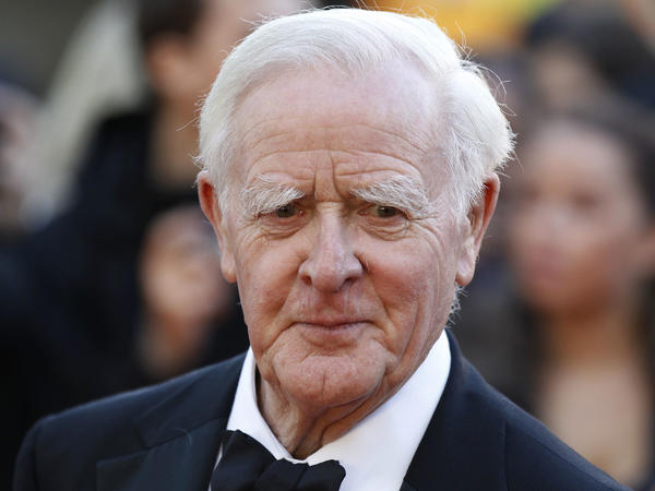 John le Carré attends the 2011 London premiere of <em>Tinker, Tailor, Soldier, Spy</em>, a film adaptation of his 1974 novel (which also features George Smiley).