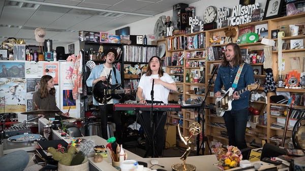 Francis Cone performs a Tiny Desk Concert on June 15, 2017 (Claire Harbage/NPR)