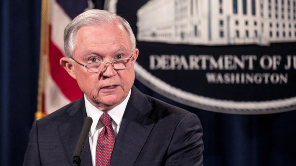 U.S. Attorney General Jeff Sessions announces the president's decision to end the Deferred Action for Childhood Arrivals program on Tuesday.