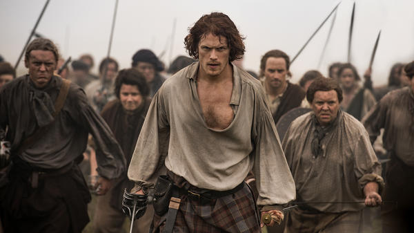 Jamie Fraser (Sam Heughan), the dashing Highland warrior.