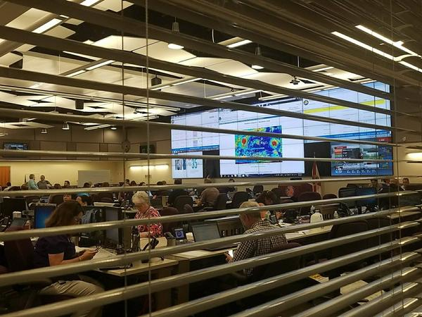 Lee County's Emergency Operations Center monitoring Hurricane Irma.