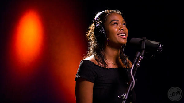Amber Mark live in the studio for KCRW