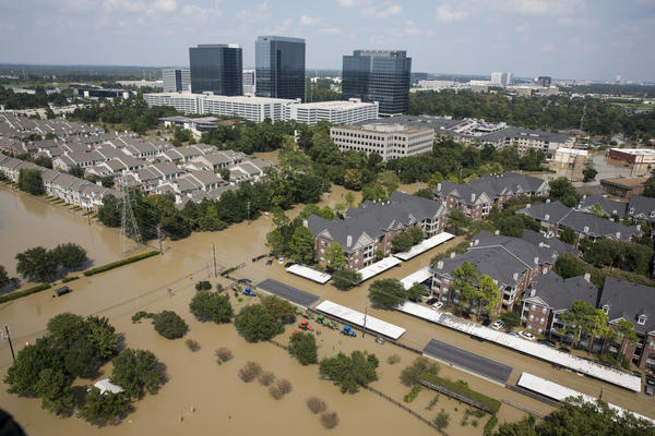A view of flooding on the west side of Houston on Sept. 1.