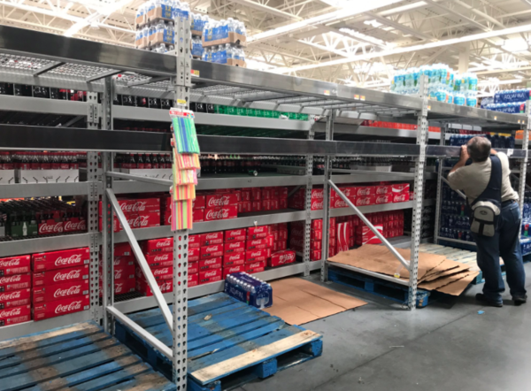 South Florida Walmart shelves are empty as shoppers flock to stores.