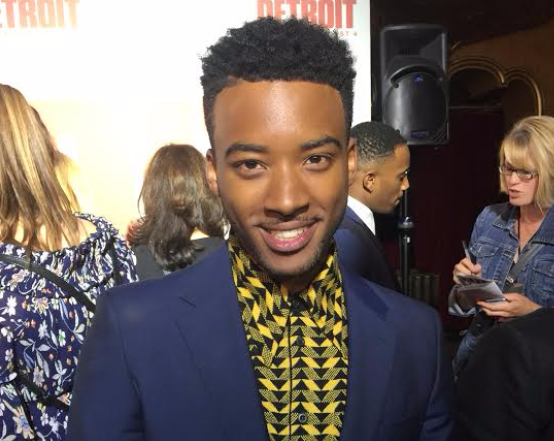Saginaw native Algee Smith plays Cleveland Larry Reed, lead singer for The Dramatics.
