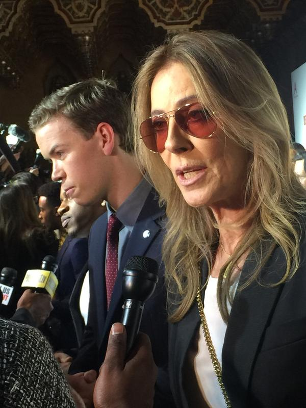 Will Poulter (left) plays DPD Officer Knauss; Kathryn Bigelow (right) is the film's director