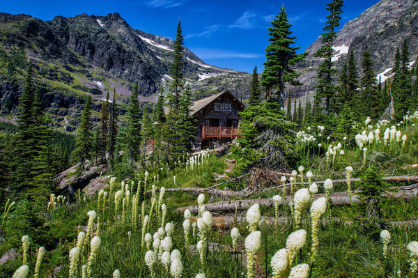 On July 21, Sperry Chalet was still a beautiful refuge for those who made the trek into the wilderness.