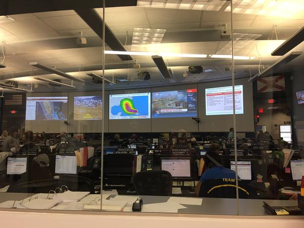 The State Emergency Operations Center (EOC) in Tallahassee is on Level 1 activation with 24/7 staffing.