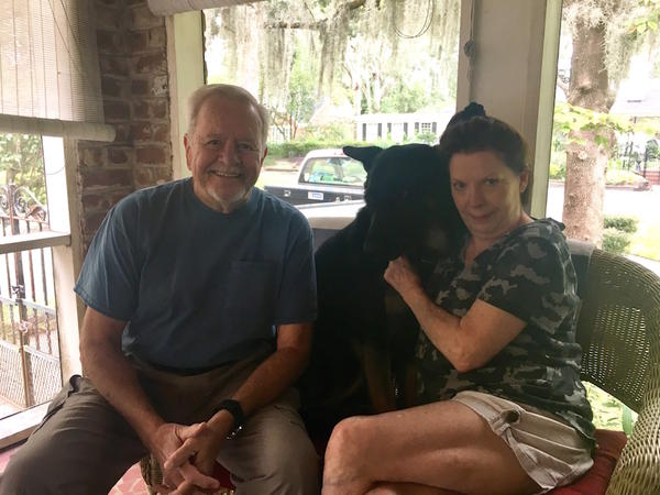 Tommie and Dottie Daniels with their dog, Rudy