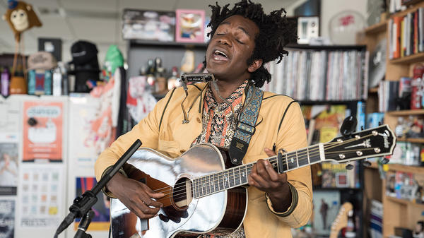L.A. Salami performs a Tiny Desk Concert on July 25, 2017. (Photo: Liam James Doyle/NPR)