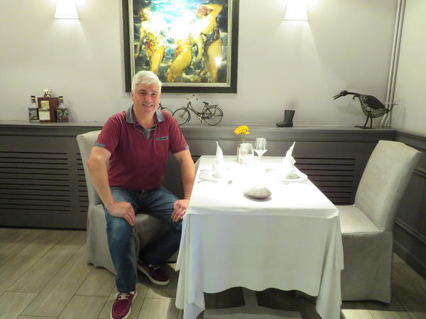"""Laurent Wacogne owns La Plage, a high-end seafood restaurant in Boulougne-sur-Mer. """"I get all my fish from our local fishermen,"""" he says. """"This is my menu and my philosophy."""" If the stock of local fish was drastically reduced after Brexit, he says, then he could go out of business."""