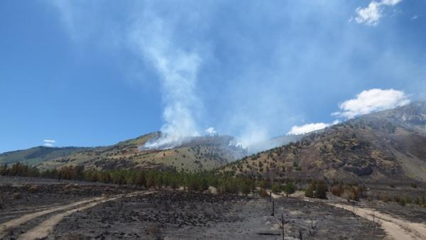 <p>View of Ana Fire on July 10.</p>