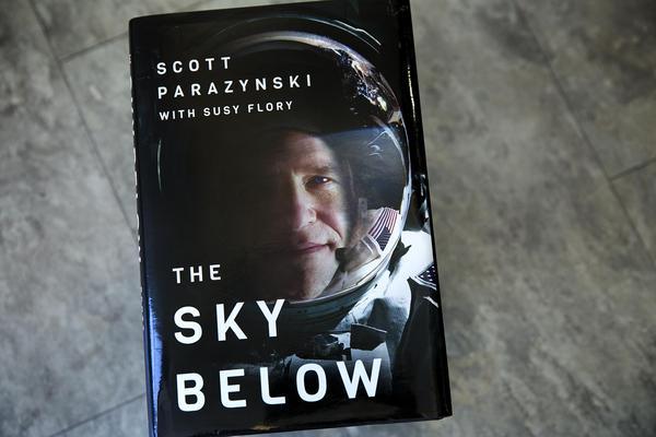 """The Sky Below,"" by Scott Parazynski. (Robin Lubbock/WBUR)"