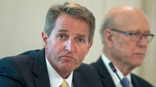 Trump has criticized Sen. Jeff Flake, R-Ariz., while praising one of his primary challengers.