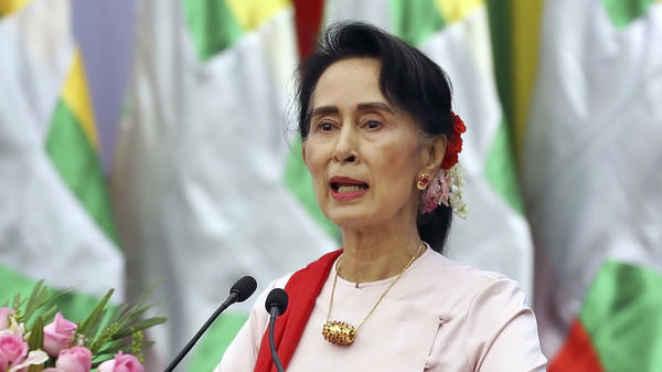"Myanmar State Counsellor Aung San Suu Kyi has insisted that unspecified ""terrorists"" and not the country's military are targeting the Muslim Rohingyas, who have been fleeing the country for weeks."