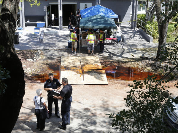 Police said that three people were dead when officers arrived at The Rehabilitation Center at Hollywood Hills in Hollywood Fla., and that five others died later.