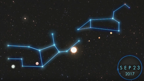 Screen shot from <em>The Sign</em>, a documentary in which biblical literalists claim the end is coming on Sept. 23 with a specific planetary alignment.