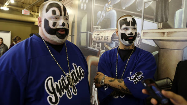 "Joseph ""Violent J"" Bruce (left) and Joseph ""Shaggy 2 Dope"" Utsler are members of the Insane Clown Posse. Fans of the band call themselves Juggalos."