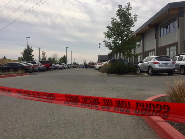 Freeman High School was a crime scene Wednesday morning after a student shot and killed a schoolmate there Wednesday morning.