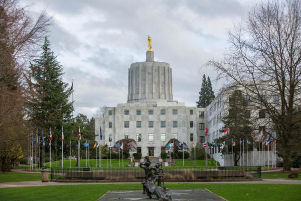 <p>The Oregon Capitol.</p>