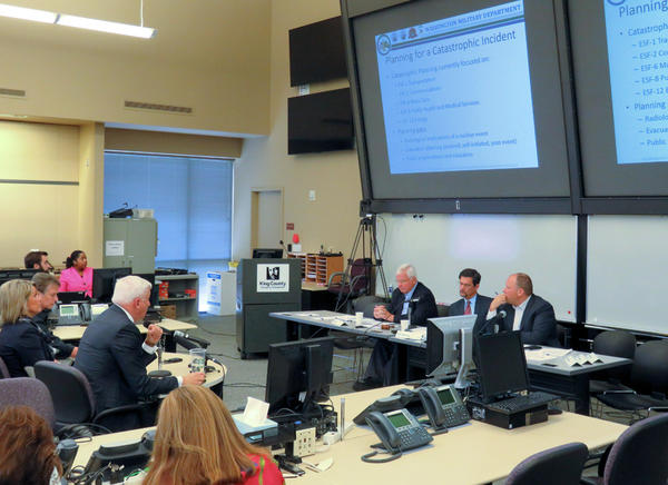 The Washington Senate State Government Committee met Wednesday at the  King County Emergency Coordination Center in Renton to discuss disaster preparedness issues.