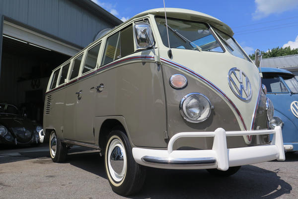 Alvin Ziminsky owns this 1964 21-window deluxe bus. He says his $100 investment in 1995 could be worth almost $150,000 now that it has been restored.