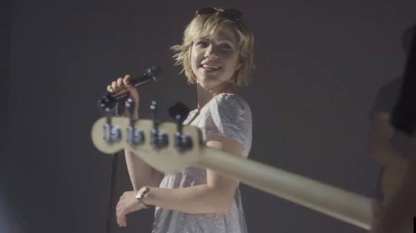 "A still from Carly Rae Jepsen's ""Cut To The Feeling"" video."