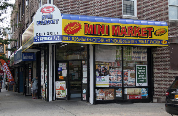 Mini Market is a bodega in Ridgewood, Queens, that sits on the corner of Seneca Avenue and Woodbine Street. Writer Angely Mercado says these stores aren't just about convenience — they feed the spirit of a community.