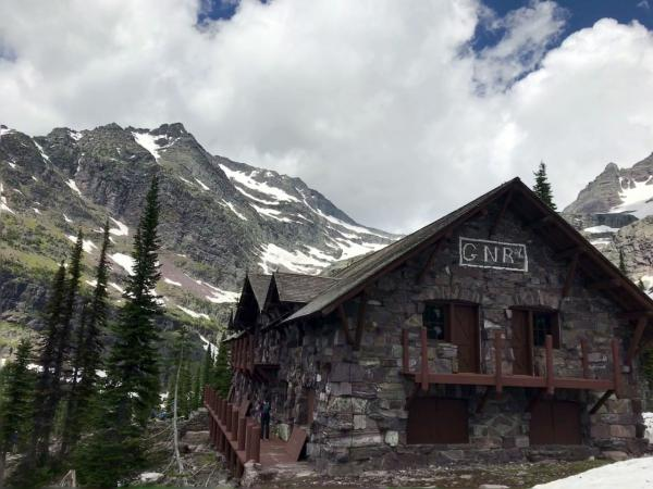 Glacier Park's Sperry Chalet as seen in June, 2017.