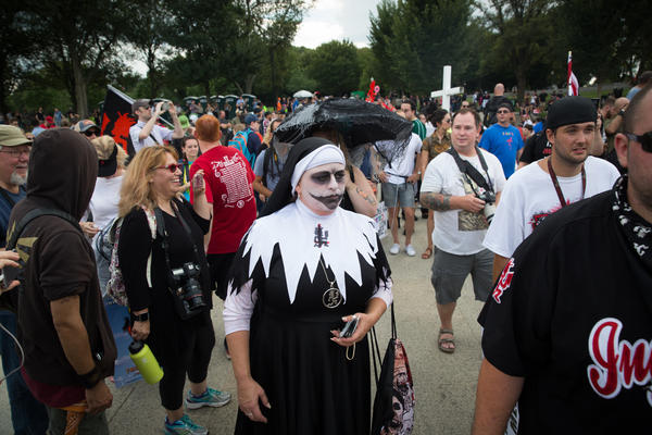 A Juggalo nun in the crowd during Saturday's event.