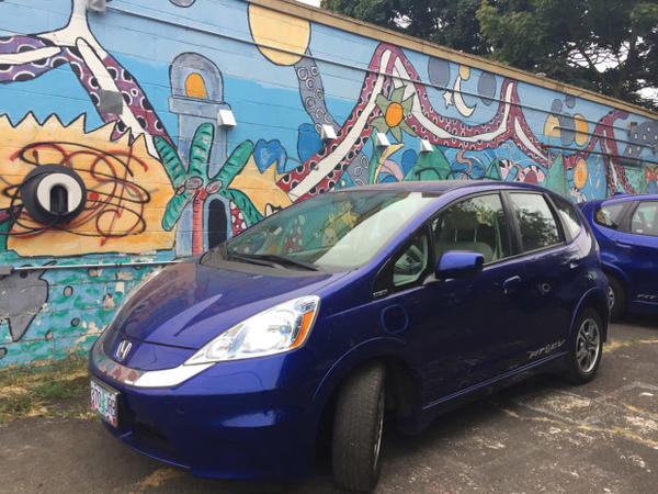 <p>Hacienda Community Development Corporation teamed up with the electric car advocacy group Forth to bring three EVs to a low-income housing community in Portland.</p>
