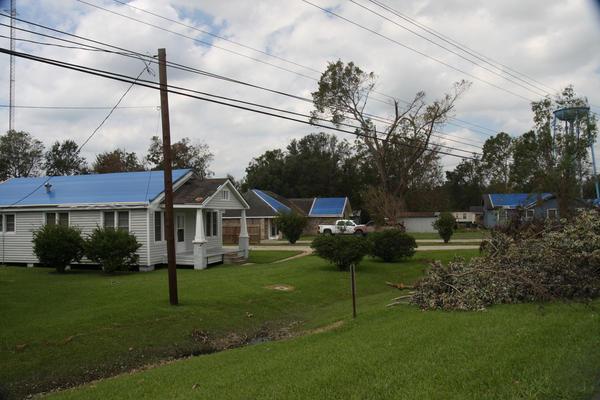 FEMA's blue tarps