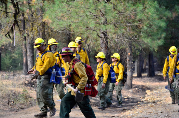 Soldiers from the 176th Engineering Company, Washington National Guard, worked 12 hour shifts on wildfire mop-up duty at the Jolly Mountain Fire near Cle Elum, Washington this month.