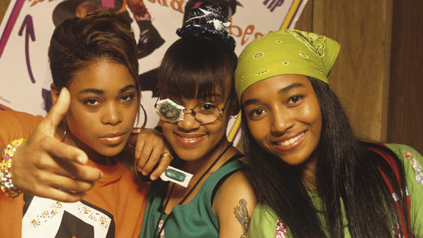 The real TLC (from left to right, Tionne 'T-Boz' Watkins, Lisa 'Left Eye' Lopes and Rozonda 'Chilli' Thomas) in the early '90s.
