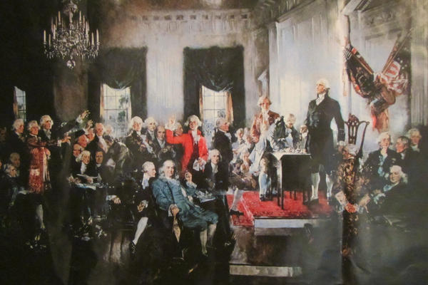 'The Signing of the Constitution' by Howard Chandler Christy 1787. (Camelia TWU/Creative Commons)