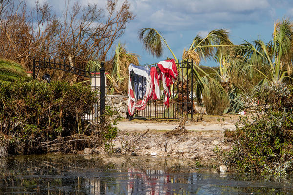 Property damage on Long Beach Road on Big Pine Key, one of the areas hardest hit by Hurricane Irma.