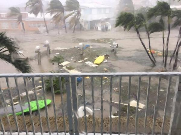 A view of Hurricane Irma damage from Key Largo.
