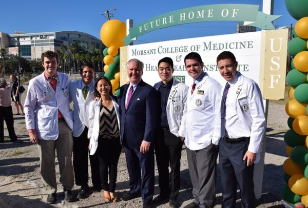 Groundbreaking ceremonies for the Morsani College of Medicine in downtown Tampa was held in December 2015.