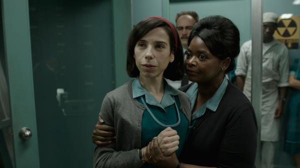 Guillermo del Toro's <em>The Shape of Water</em> stars Sally Hawkins and Octavia Spencer as cleaning ladies in a Cold War government lab.