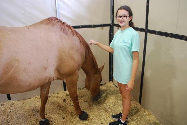 Julia Stevenson and her horse, Ridge.