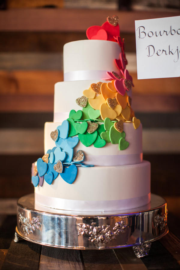 "Derkje Steenblik from Bourbon Steak says of her cake: ""The hearts ascending symbolize love ascending."""